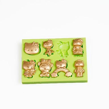 szilikon cukorka öntőforma csokoládé polimer agyag készítéséhez fondant torta dekoráció szín véletlenszerű
