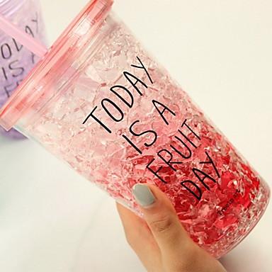 빨간 여름 빙수 컵