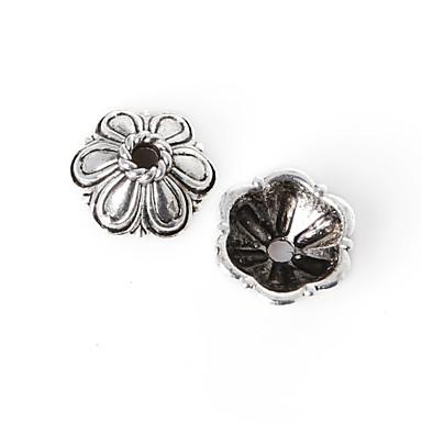 beadia 18db antik ezüst ötvözet gyöngyök 10x4mm távtartó gyöngyök& gyöngyök sapka