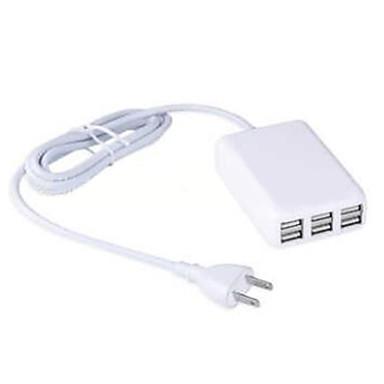US dugasz Telefon USB töltő Multi port cm Outlets 6 USB port 2.1A 2A 1A 0.5A AC 100V-240V