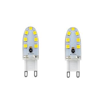 2W G9 LED Bi-pin 조명 T 14 LED SMD 2835 방수 장식 따뜻한 화이트 차가운 화이트 내추럴 화이트 200-250lm 3000-6000K AC 220-240 AC 110-130V