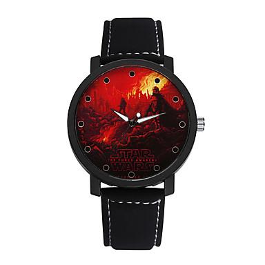 남성 패션 시계 캐쥬얼 시계 석영 가죽 밴드 블루 브라운 그린