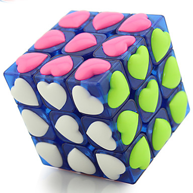 Rubik's Cube YONG JUN 3*3*3 Smooth Speed Cube Magic Cube Puzzle Cube Professional Level Speed Competition Heart Gift Lovers Classic &