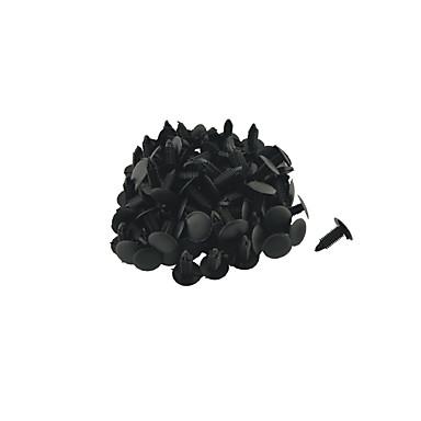 K027 100 painel interior pcs carro clipes guarnição rebite plástico preto