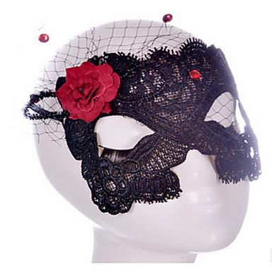 할로윈 파티 장식 가리개의 가장 무도회에 대한 세이 스타일의 블랙 / 화이트 레이스 마스크