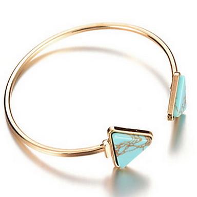 Жен. Браслет разомкнутое кольцо - Богемные, Мода, Богемный Браслеты Зеленый Назначение Новогодние подарки Повседневные