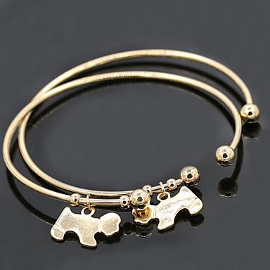 Női Karperecek Bilincs karkötők Vintage Ötvözet Kutyák Állat Ékszerek Karácsonyi ajándékok Napi Hétköznapi Jelmez ékszerek