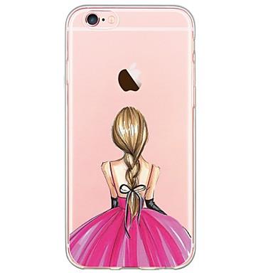 Mert iPhone 6 tok / iPhone 6 Plus tok Ultra-vékeny / Átlátszó / Minta Case Hátlap Case Szexi lány Puha TPU AppleiPhone 6s Plus/6 Plus /