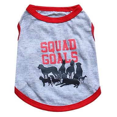 고양이 / 개 티셔츠 그레이 강아지 의류 여름 동물 패션