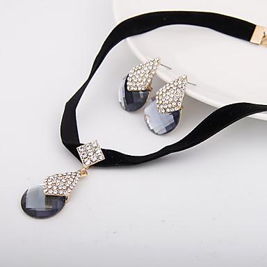 Női Ékszer készlet Nyaklánc / fülbevaló Hamis gyémánt Luxus minimalista stílusú Esküvő Parti Napi Hétköznapi Naušnice Nyakláncok Jelmez
