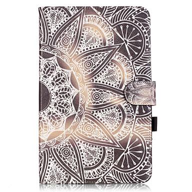 용 삼성 갤럭시 케이스 카드 홀더 / 지갑 / 스탠드 / 플립 / 패턴 케이스 풀 바디 케이스 만다라 소프트 인조 가죽 Samsung Tab E 9.6 / Tab A 9.7