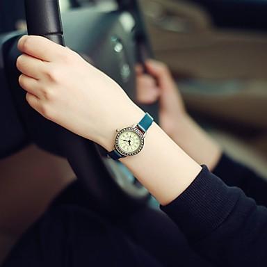여성용 패션 시계 손목 시계 석영 / PU 밴드 빈티지 캐쥬얼 블랙 화이트 레드 브라운 그린