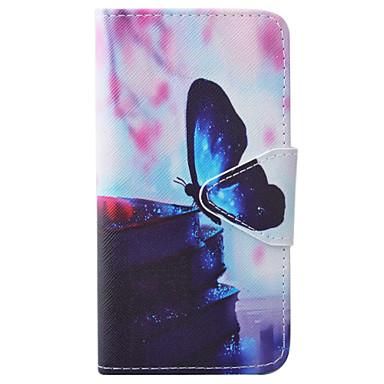Mert iPhone 7 tok / iPhone 6 tok Pénztárca / Kártyatartó / Állvánnyal / Flip / Dombornyomott / Minta / Mágneses Case Teljes védelem Case