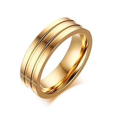 Férfi Band Ring / Nyilatkozat gyűrű - Titanium Acél Divat 7 / 8 / 9 Aranyozott Kompatibilitás Parti / Napi / Hétköznapi
