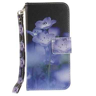 Mert iPhone 7 tok / iPhone 6 tok Pénztárca / Kártyatartó / Állvánnyal / Flip Case Teljes védelem Case Virág Kemény Műbőr AppleiPhone 7 /
