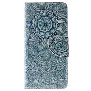 Mert Huawei tok / P9 Lite / P8 Lite Pénztárca / Kártyatartó / Ütésálló / Porálló / Állvánnyal Case Teljes védelem Case Mandala Puha Műbőr