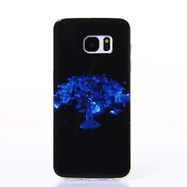 Mert Samsung Galaxy S7 Edge Minta Case Hátlap Case Fa Puha TPU Samsung S7 edge / S7 / S6 edge / S6 / S5