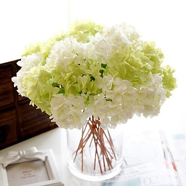 1 Gałąź Poliester Hortensje Bukiety na stół Sztuczne Kwiaty