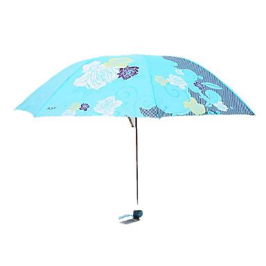 Piros / Kék Összecsukható esernyő Sunny és Rainy Fém / Plastic Nő