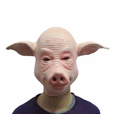 돼지 마스크가 얼굴 전체를 코스프레 할로윈 파티 축제 파티 고무 의상 재미 전체 헤드 마스크 드레스 파티 소품 도구