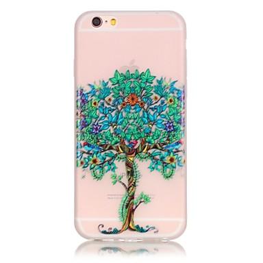 용 아이폰6케이스 / 아이폰6플러스 케이스 야광 케이스 뒷면 커버 케이스 나무 소프트 TPU Apple iPhone 6s Plus/6 Plus / iPhone 6s/6 / iPhone SE/5s/5