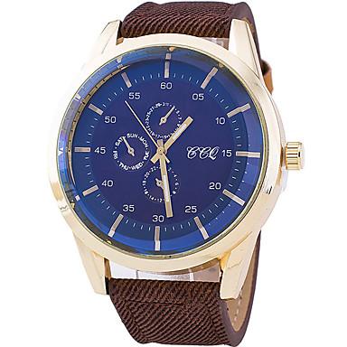 남성 스포츠 시계 패션 시계 손목 시계 / 석영 섬유 밴드 멋진 캐쥬얼 블랙 블루 오렌지 브라운