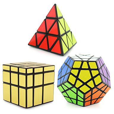 Rubik kocka 3 db. Shengshou Pyraminx Alien Megaminx Mirror Cube Sima Speed Cube Rubik-kocka Puzzle Cube szakmai szint Sebesség Ajándék