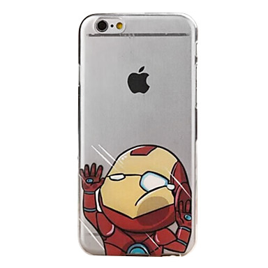 Capinha Para iPhone 6s Plus iPhone 6 Plus iPhone 6s iPhone 6 iPhone 6 Plus iPhone 6 Transparente Capa traseira Desenho Animado Rígida PC