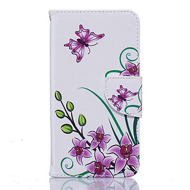 Mert Nokia tok Pénztárca / Kártyatartó / Ütésálló / Porálló / Állvánnyal Case Teljes védelem Case Pillangó Puha Műbőr Nokia