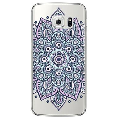 케이스 제품 Samsung Galaxy Samsung Galaxy S7 Edge 투명 / 패턴 뒷면 커버 만다라 소프트 TPU 용 S7 edge / S7 / S6 edge plus