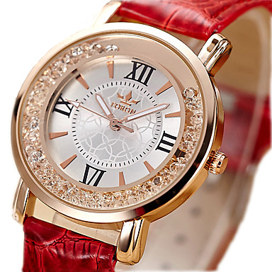 Women's Imitation Diamond PU Band Analog Ladies Vintage Fashion Black / White / Red - Black Red Pink One Year Battery Life