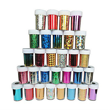 1PC Naklejki 3D na paznokcie Szablon tłoczenia paznokci Nail Art Design Codzienny Błyskotki Klasyczny Glitter & Sparkle Wysoka jakość