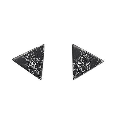 Damskie Kolczyki na sztyft - Vintage Urocza Imprezowa Do biura Na co dzień Modny List White Black Trojůhelníkové Geometric Shape Kolczyki