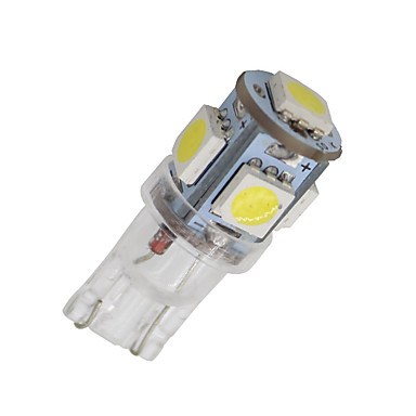 20x zuiver wit 5 smd T10 wig 168 194 2825 LED-lamp voor kentekenverlichting