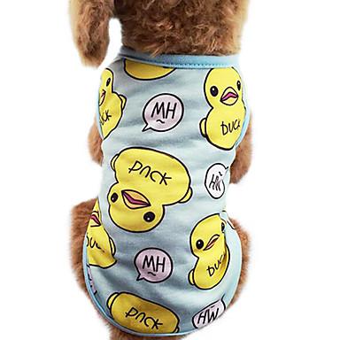 Pisici Câine Tricou Îmbrăcăminte Câini Desene Animate Albastru Roz Bumbac Costume Pentru Primăvara & toamnă Vară Bărbați Pentru femei Modă