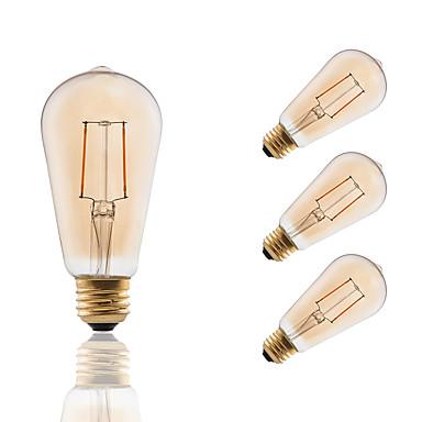 GMY® 4db 180 lm E26/E27 Izzószálas LED lámpák ST19 2 led COB Tompítható Dekoratív Borostyánsárga AC 110-130V