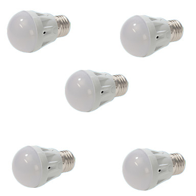5W E26/E27 LED gömbbúrás izzók A60(A19) 13 SMD 5730 450-500 lm Meleg fehér Hideg fehér Tompítható Dekoratív AC 220-240 V 5 db.