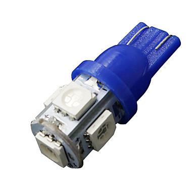 2 x ultra-t10 azul 5-SMD LED placa de licença lâmpadas W5W 2825 158 192 168 194