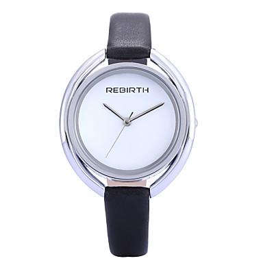 REBIRTH 여성용 패션 시계 손목 시계 석영 / PU 밴드 캐쥬얼 우아한 미니멀리스트 블랙 화이트