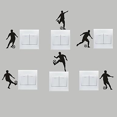 스포츠 벽 스티커 플레인 월스티커 데코레이티브 월 스티커 / 라이트 Switch 스티커,PVC 자료 이동가능 홈 장식 벽 데칼