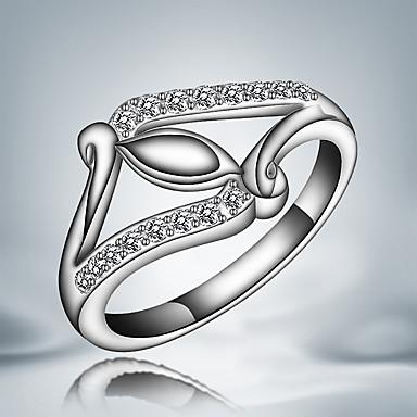 Karikagyűrűk Kristály Ezüst Cirkonium Bojtok Divat Ezüst Ékszerek Esküvő Parti Napi Hétköznapi 1db