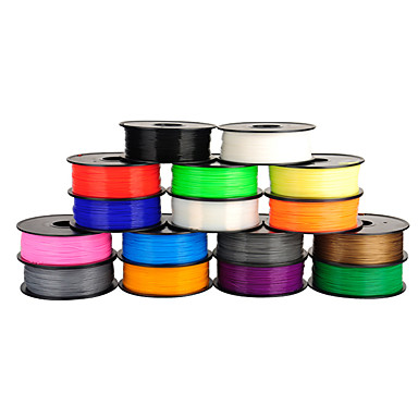 billige 3D printer tilbehør-anet 3d printer glødetråd 1,75 mm / 3mm pla for 3d udskrivning (1pcs, tilfældige farver)