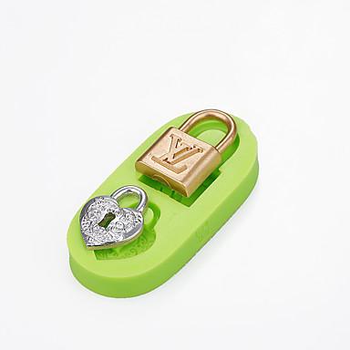 케이크 장식 레이디 브랜드 핸드백 잠금 실리콘 사탕 금형 초콜릿 폴리머 퐁드 도구 색상 랜덤