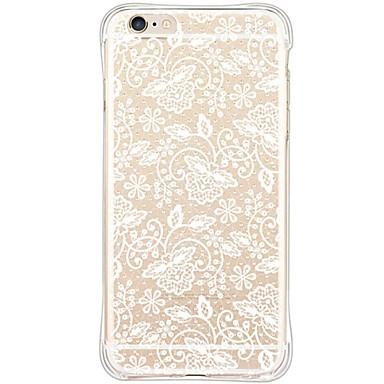 Mert iPhone 6 tok / iPhone 6 Plus tok Vízálló / Ütésálló / Porálló / Átlátszó Case Hátlap Case Csipke dizájn Puha TPU AppleiPhone 6s