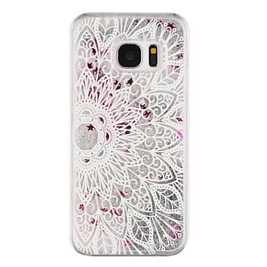 용 Samsung Galaxy S7 Edge 플로잉 리퀴드 / 투명 / 패턴 케이스 뒷면 커버 케이스 만다라 하드 PC Samsung S7 edge / S7