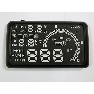 hud kijelző autó hud fejét kijelző autó hud autó styling gyorshajtás figyelmeztető rendszer jó minőségű 5.5 inch OBD2 interfész