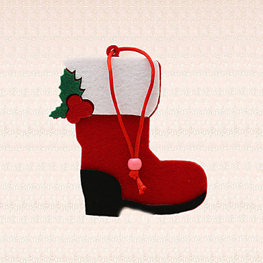 1db piros rövid csizma cipő design medál karácsonyfa díszítés ünnep fél által szép ajándék