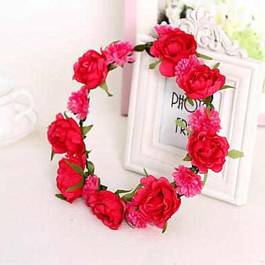 szép rózsa virág koszorúk fejpánt hölgy lakodalom ünnep haj ékszerek