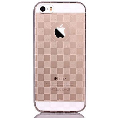 케이스 제품 iPhone 5 Apple 아이폰5케이스 반투명 패턴 뒷면 커버 기하학 패턴 소프트 TPU 용 iPhone SE/5s iPhone 5