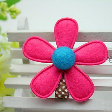 여성의 꽃 소녀의 패브릭 꽃 임의의 색상 헤어 클립
